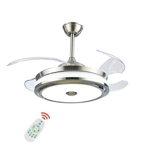 WHYING 36'' Ceiling Fan with Light LED Integration Three-Color Light with Remote Control Speed Adjustment ABS Retractable Blade for Living Room Bedroom Restaurant (36in - 1)