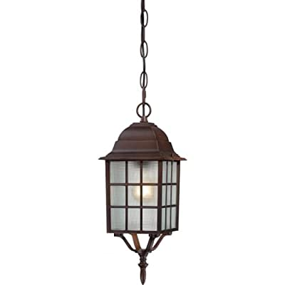 Nuvo Lighting Adams Wall Lantern/Arm Up with Frosted Glass