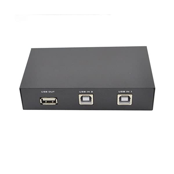 Pruthvik™ 2 Port USB 2.0 Switch Box/Hub for Printer Scanner Keyboard and Other USB Supported Devices - 2 Year Warranty with Pruthvik Enterprise