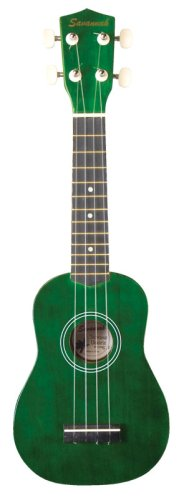 Savannah Color Ukulele with Bag Green