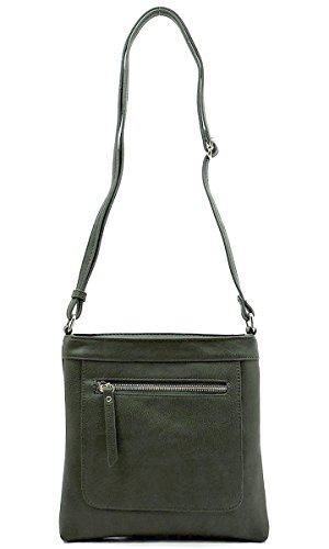 Fashion Olive by Zipper Crossbody with Metal Glad Bag gcqXPTv