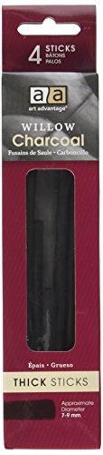 Willow Charcoal Sticks (Art Advantage Thick Willow Charcoal, 4/Sticks)