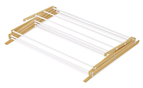 Whitmor Drying Rack with Top Shelf-Indoor and Outdoor-Foldable-Natural, Wood by Whitmor (Image #2)