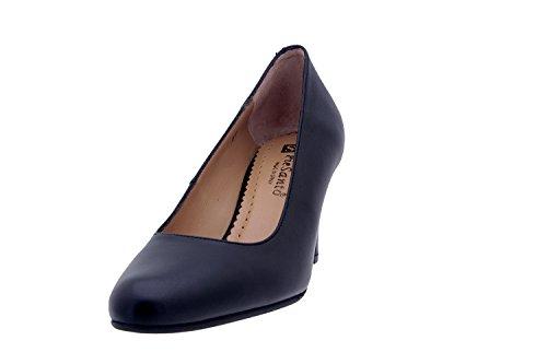 Calzado mujer confort de piel Piesanto 7201 zapato salón vestir cómodo ancho Piel Negro