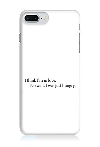 COVER quote Spruch Hungry WEISS Handy Hülle Case 3D-Druck Top-Qualität kratzfest Apple iPhone 7 Plus