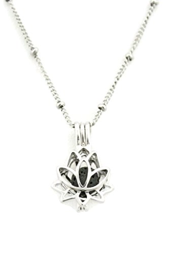 Flower Stainless Essential Diffuser Necklace
