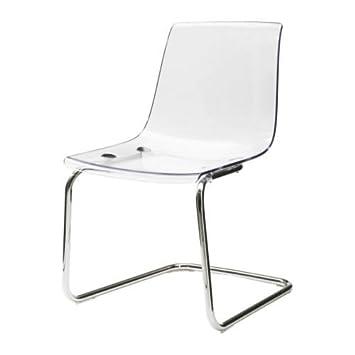 Schreibtischstuhl ikea  IKEA TOBIAS Stuhl transparent; verchromt: Amazon.de: Küche & Haushalt