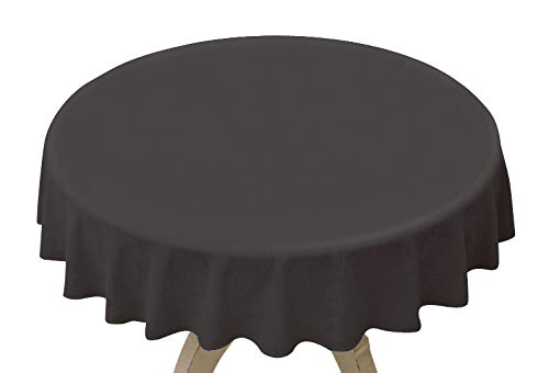 8 Pack Black Disposable Plastic Tablecloth 84