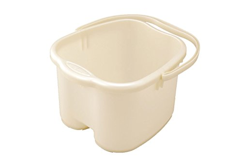 Foot Soak Tubs - Inomata Pearl Foot Detox Massage Spa Bucket, White