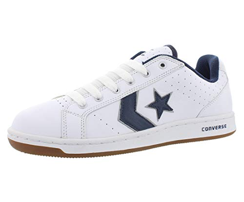Converse Men's Karve Ox White/Navy Ankle-High Leather Fashion Sneaker - 7.5M -
