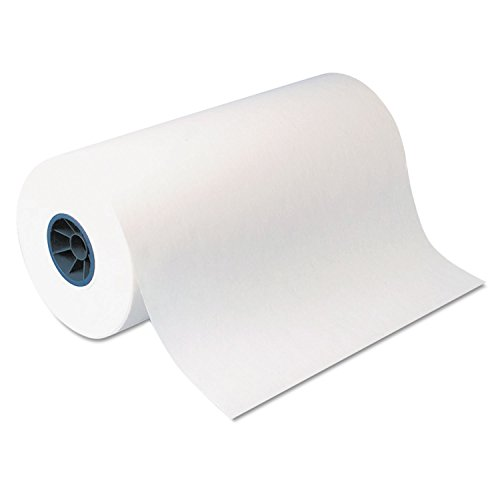 Dixie KL18 Kold-Lok Polyethylene-Coated Freezer Paper Roll, 18 Inches Wide x 1100 Feet Long, White
