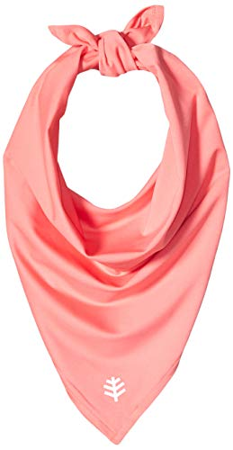 Coolibar UPF 50+ Men's Women's Performance Sun Bandana - Sun Protective (One Size- Rosy Coral)