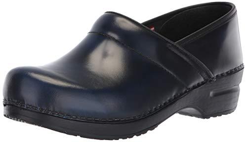 Mule Delle Zoccoli Scarpe Donne Sanita Pelle In Blu Professionale 7Z714EY