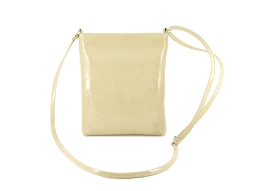 Cross Womens Body Faux Leather LONI Handbag Bag Nude Compact Beige Patent Size Shoulder 5BUyqwS