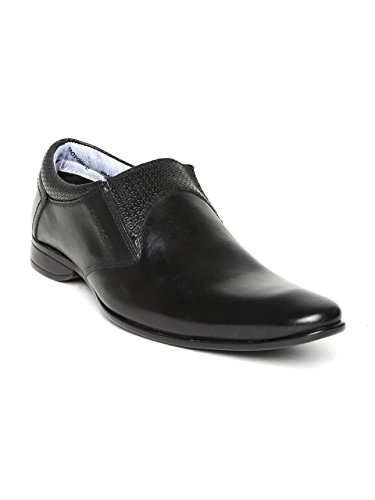 d9003cf58b1 Provogue Men Black Leather Semiformal Shoes: Buy Online at Low Prices in  India - Amazon.in
