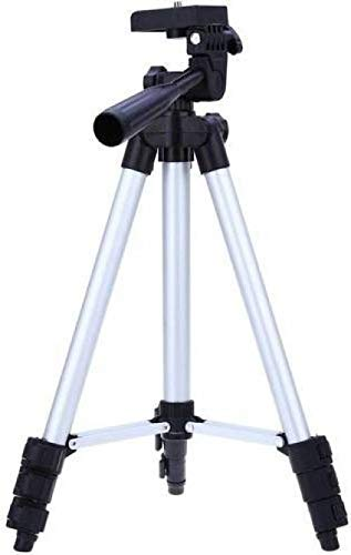 Dronean ZUV259 Lightweight Aluminium 3110 Tripod with Adjustable & Portable Stand for Mobile Phone & Camera Holder Easy to Use [Multicolor]