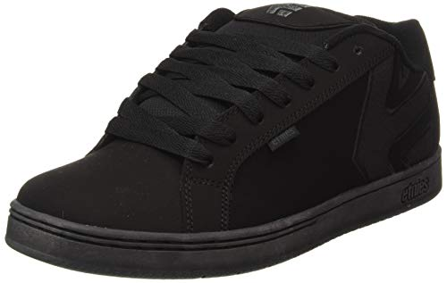 New Etnies Skateboarding Shoes - Etnies Mens Fader LS Shoes Footwear,Black Dirty Wash,10.5