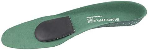 Superflex Einlegesohlen, gepolstert, für fast jeden Schuh, mit Fußgewölbeunterstützung und Fersenschale, für schmerzende Füße With Dancer Pads
