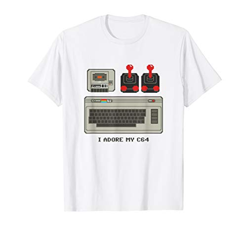 I Adore my C64 Computer T-shirt. 5 Colors for Men, Women, Kids