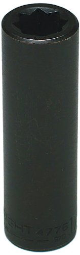 Wright Tool 4776 1/2-Inch - 1/2-Inch Drive 8-Point Double Square Deep Impact Socket by Wright Tool