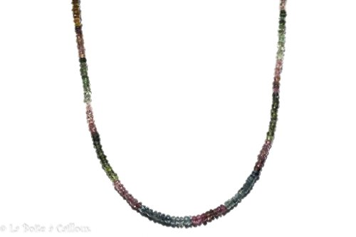 Collier tourmaline multicolore extra argent 925