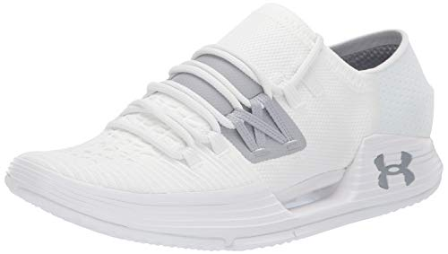 Under Armour Men's Speedform AMP 3 Sneaker, White (101)/Overcast Gray, 11 (D Roses Shoes Youth)
