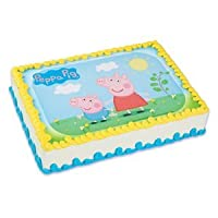 Caprichosa practicidad Peppa Pig Comestibles Icing Image Cake Topper