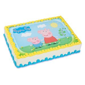 (Whimsical Practicality Peppa Pig Edible Icing Image Cake Topper)