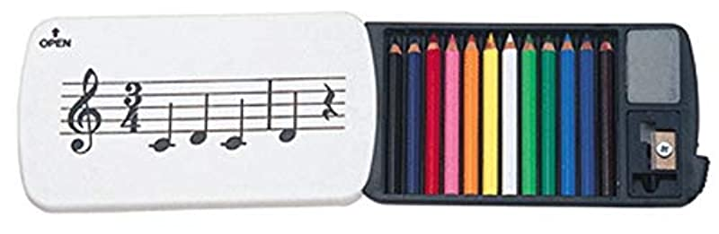 미니 색연필 12색 (연필 깍기 지우개 포함) 세트