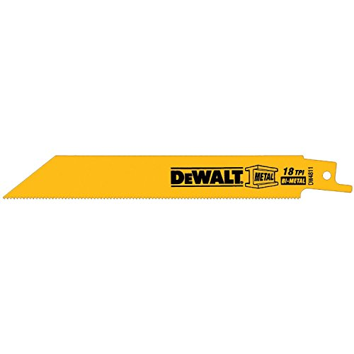 028874048119 - DEWALT DW4811 6-Inch 18 TPI Straight Back Bi-Metal Reciprocating Saw Blade (5-Pack) carousel main 0