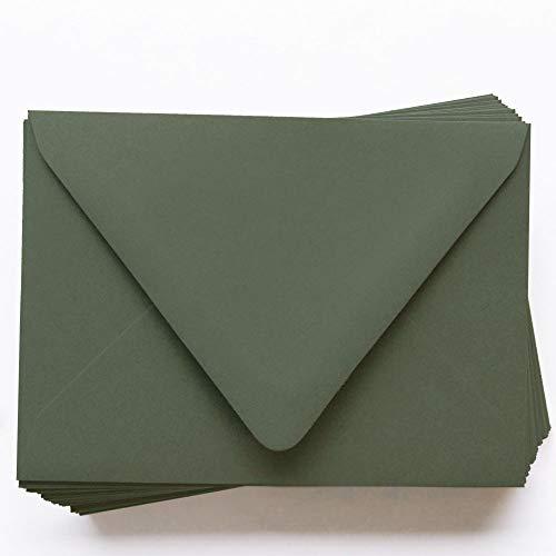 - A2 Gmund Colors Matt Seedling Green Envelopes - Euro Flap, 68T, 25 Pack