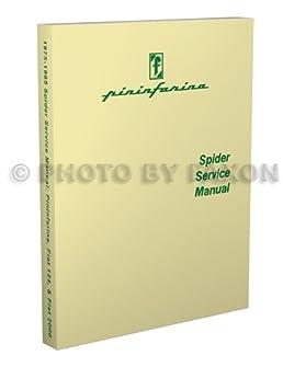 1975 1985 fiat 124 2000 pininfarina azzurra spider repair shop rh amazon com fiat 124 spider repair manual 2017 fiat 124 spider shop manual