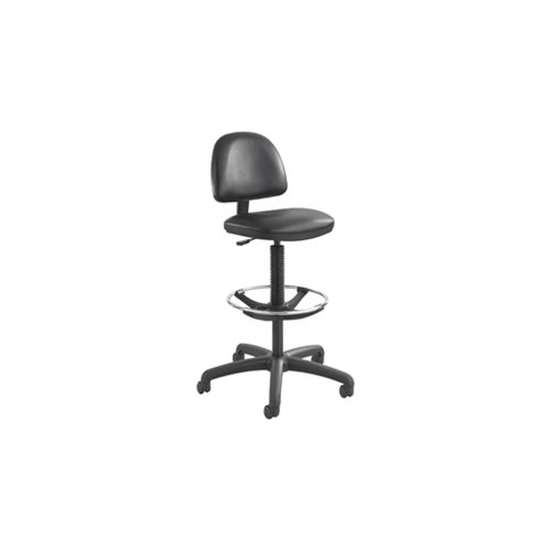 Precision Extended-Height Vinyl Drafting Chair/Footring, Black-BL Electronics, Accessories, Computer