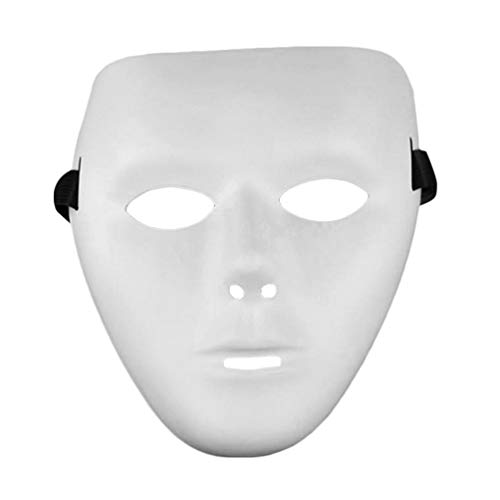 Cosplay Halloween Festival White Full Face Dance Costume Mask para hombres, mujeres, blanco]()