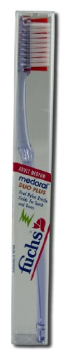 Fuchs, Medoral Adult Medium Duo Plus Nylon Toothbrush 1 Toothbrush