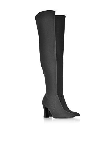 Stoff Stuart Damenstiefel aus Weitzman schwarzem HIRISEBLACK RRqw7UFvx