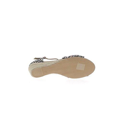 Cintura mujer zapatillas offset tacones de 5cm negro