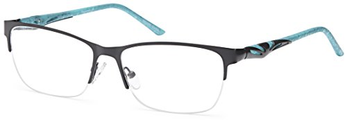 DALIX Female Prescription Eyeglasses Frames 56-16-140-36 RXable in Black - Online Semi Rimless Eyeglasses