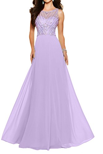 Illusion Princess Dress Prom Beading Lilac Long Sleeveless Tulle Dress Avril Evening 5qUFtx5