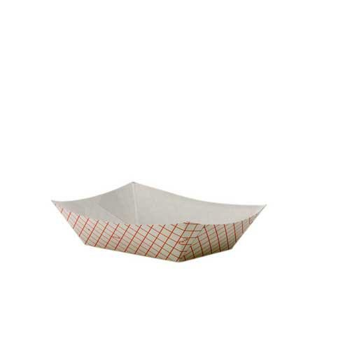 Kant Leek Red Plaid Polycoated Food Tray, 0.25 Pound - 1000 per case. (Leek Kant Dixie)