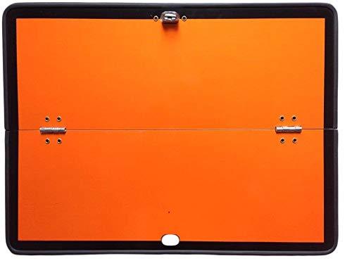 Fahrzeugbedarf Wilms Warntafel/Gefahrguttafel 400 x 300 mm, orange, horizontal klappbar, Alu mit Kantenschutz