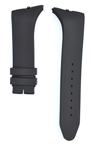 212ZTD 24mm Black Rubber Hamilton fit for Ventura H24655331 Replacement Watch Band Strap Free Spring BAR Tool HML100 ()