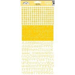 DOODLEBUG Teensy Type Cardstock Alphabet Stickers-Bumblebee (DBD3430)
