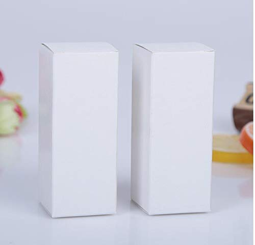 XLPD 50Pcs 10Ml/20Ml/30Ml/50Ml/100Ml White Black Kraft Paper Packaging Box Dropper Bottle Cosmetics Party Gift Cardboard Boxes Tubes White 3.6x3.6x9cm 30ml -