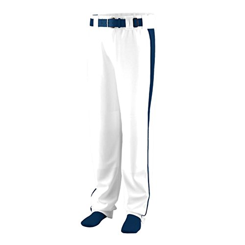 Augusta Sports Triple Play Baseball/Softball Pant, White/Navy, XXX Large