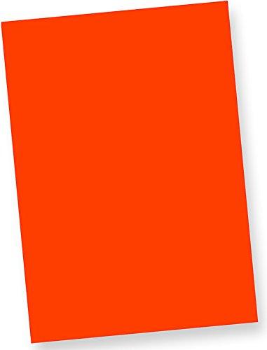 50 Blatt 80 g//qm farbiges Briefpapier Leuchtpapier Tatmotive Neonpapier Fine50 Extrem Grell NEON DIN-A4 Feuerwehr-Rot
