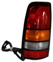 Used Tail Light Assembly - TYC 11-5186-90 GMC Sierra Driver Side Replacement Tail Light Assembly