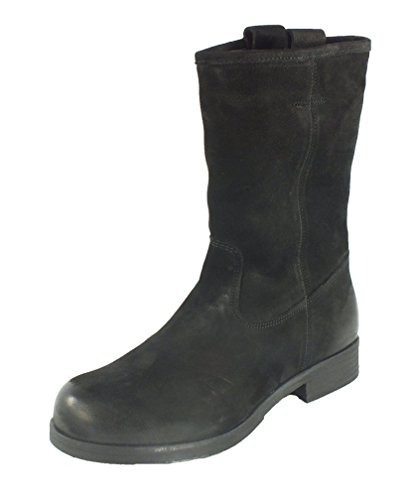 s.Oliver 10012 Leder Stiefelette Boots Schwarz Warmfutter Schwarz