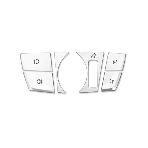 HOTRIMWORLD Interior Headlight Switch Button Trim Cover 6pcs for BMW X3 X4 G01 G02 2018-2019