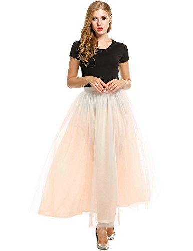 ANGVNS Womens Tulle Wedding Skirts
